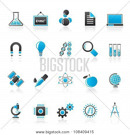 Science, Research and Education Icons