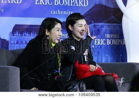 Kanako Murakami (jpn) And Her Coach Mihoko Higuchi (l)
