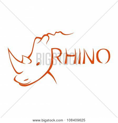 Abstract Rhinoceros Symbol