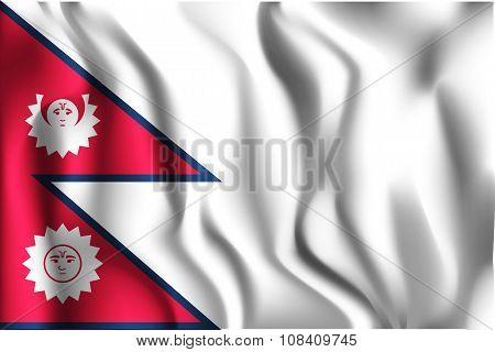 Nepal Variant Flag. Rectangular Shape Icon
