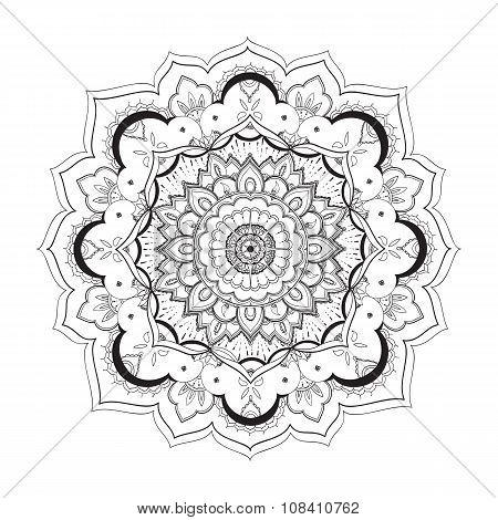 Mandala, Ornamental Round Pattern. Tribal, Ethnic, Bohemian, Islam, Indian Style