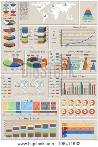 Infographic Set Of Charts