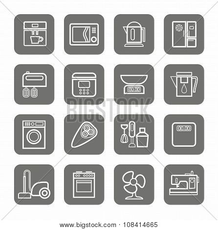 Household Appliances, Icons, ...