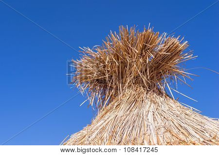 Part Straw Roof Of A Hut