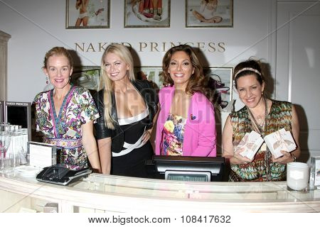 LOS ANGELES - NOV 14:  Penelope Ann Miller, Angeline-Rose Troy, Alex Meneses, Joely FIsher at the Private Shopping Event at the Naked Princess on November 14, 2015 in Los Angeles, CA