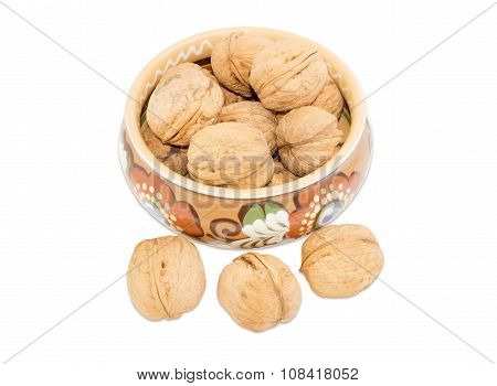 Bowl With Walnuts And Several Nuts Beside