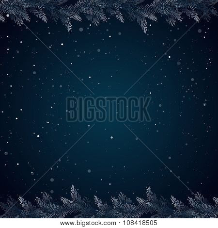 Christmas background borders frames pine twigs