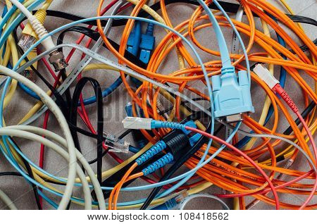 Many Networking Data Cables