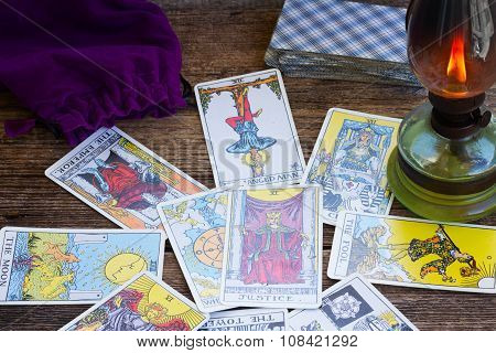 Fortunetelling with  Tarot cards