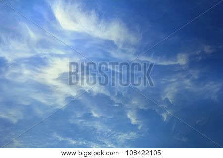 Bblue Sky With White Clouds