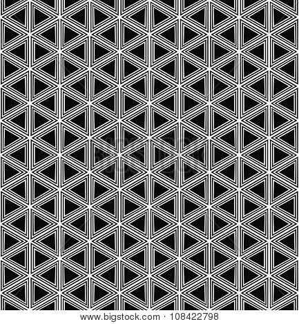 Repeat monochromatic triangle pattern