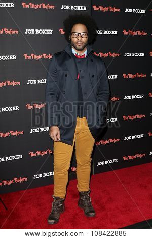 NEW YORK-NOV 16: Actor Jonathan Fernandez attends the New York Red Carpet screening of Columbia Pictures'