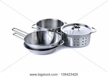 Kitset Of Kitchenware For Children Imagination On White Background
