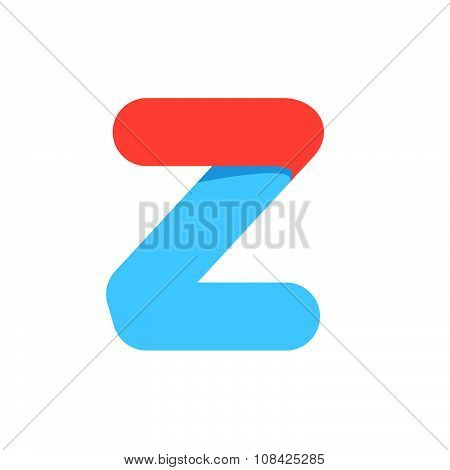 Z Letter With Fast Speed Line.
