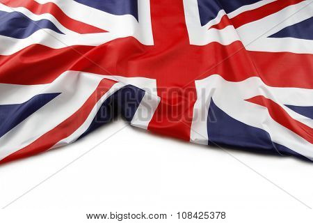 Union Jack flag on white background