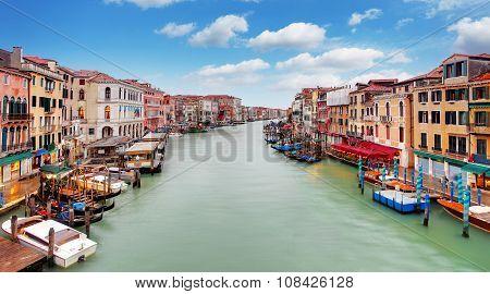Venice Grand Canal And Gondola