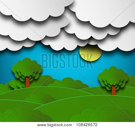 Cloudy Summer Background