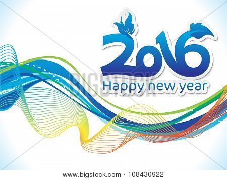 Abstract Colorful New Year Wave Background