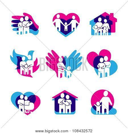 Family Logo Set