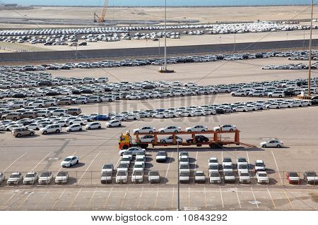 Big Warehouse Of Cars On April 15, 2010 In Abu Dhabi, Uae
