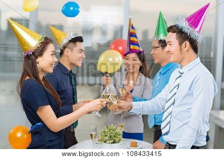Drinking at office party