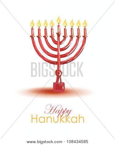Hand Drawn Hanukkah Card Template