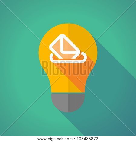 Long Shadow Vector Light Bulb With  A Ballot Box