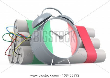 Time Bomb With Italian Flag