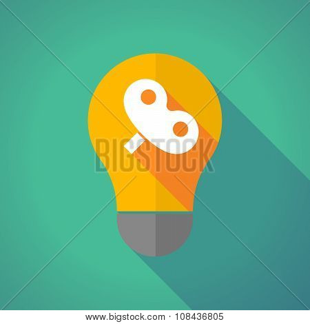 Long Shadow Vector Light Bulb With A Toy Crank