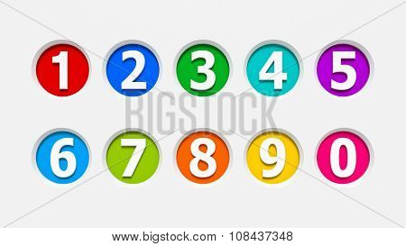 Icons Numbers Set #2