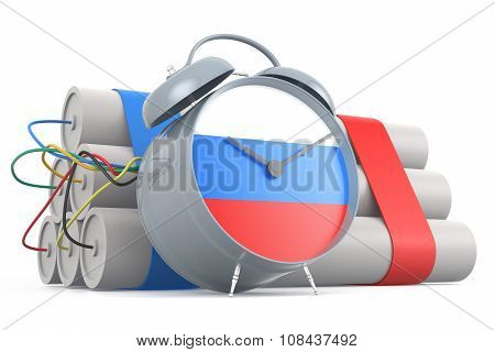 Time Bomb With Russian Flag