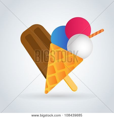 Ice cream vector icons set. Icecream isolated vectors. Candy ice cream. Tasty frozen, cartoon vector, set. Ping, red, blue, green, red ice cream. Ice cream scoops icons. Ice cream shop. Ice-cream logo
