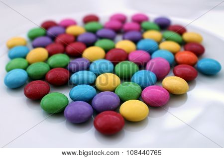 Group Of Many Colorful Tasty Chocolate Candies