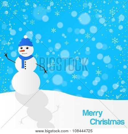 Christmas snowman illustration colorful illustration