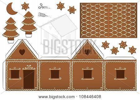 Gingerbread House Paper Model