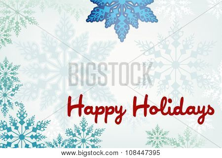 Snowy winter frame holiday message
