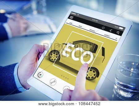 Web Page Car Information Searching Transportation Style Concept