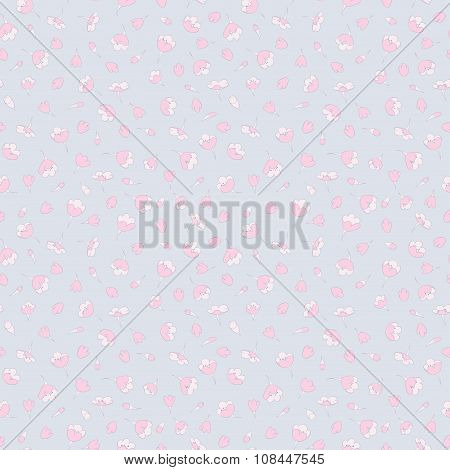 seamless tiny cute floral pattern. vector background