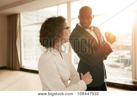 Business People Discussing During A Presentation