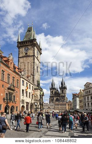 PRAGUE, CZECH REPUBLIC -  SEPTEMBER 05, 2015: Photo of The Old Town Square.