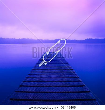 Tranquil Peaceful Lake at Sunrise Concept