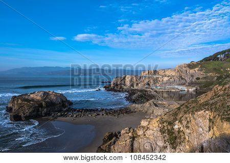 The coast along Sutro Baths, San Francisco