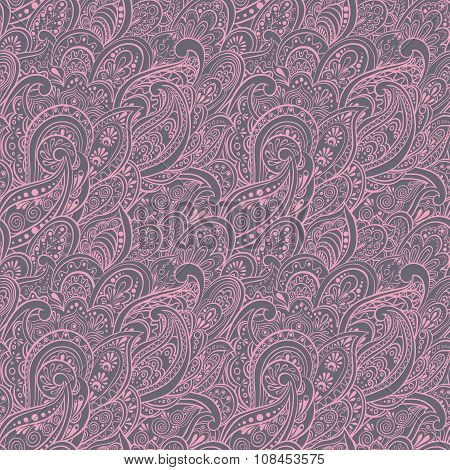 Paisley Seamless Pattern. asian textile style vector background