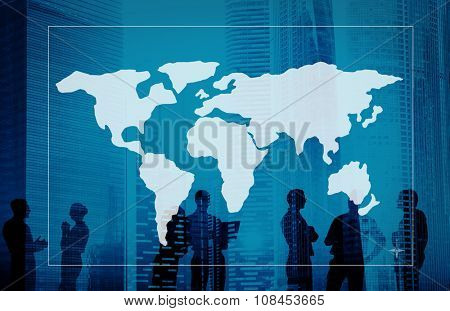 Global World Cartography Business International Concept