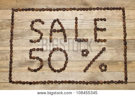 Advert Sale Made Of Coffee Beans
