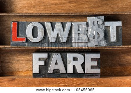 Lowest Fare Tray