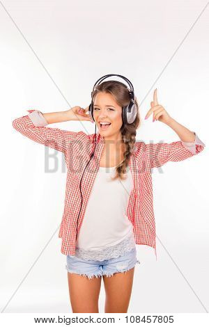 Happy Young Woman With Headphones