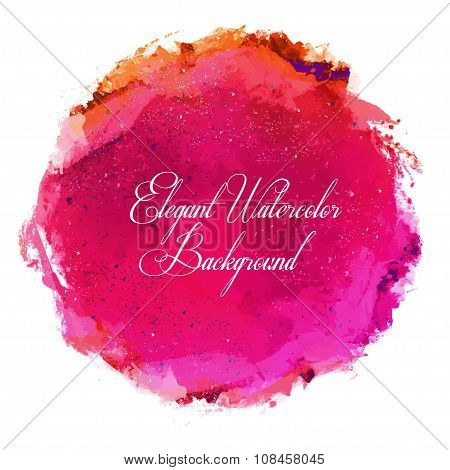 Abstract vector watercolor spot background.