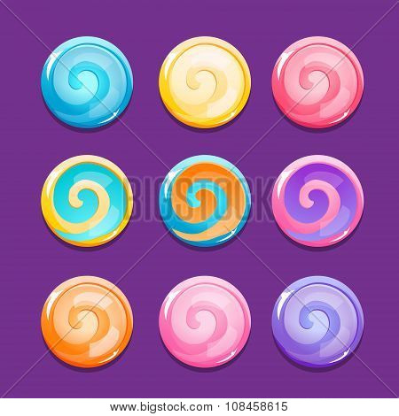 Set Of Lollipop Icons
