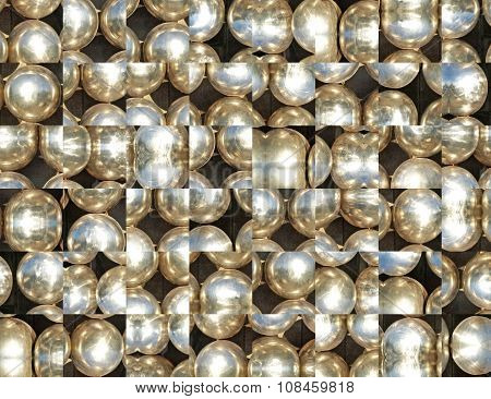 Silver Metal Balls Abstract Background.